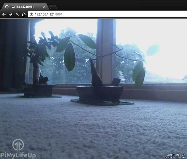 raspberry pi USB webcam in action