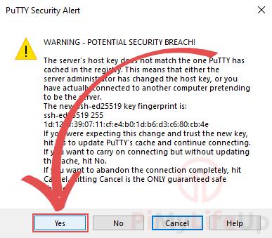 SSH Security Key Warning