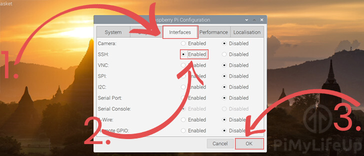 Enabling SSH through the Desktop Interface
