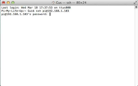 Raspberry Pi Mac SSH