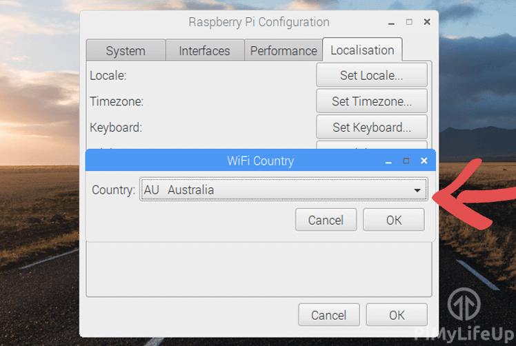 Raspbian Select WiFi Country