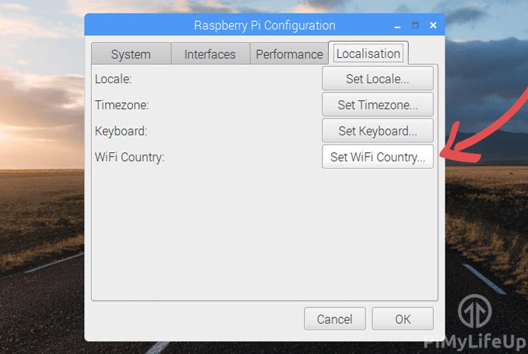 Raspbian Set WiFi Country