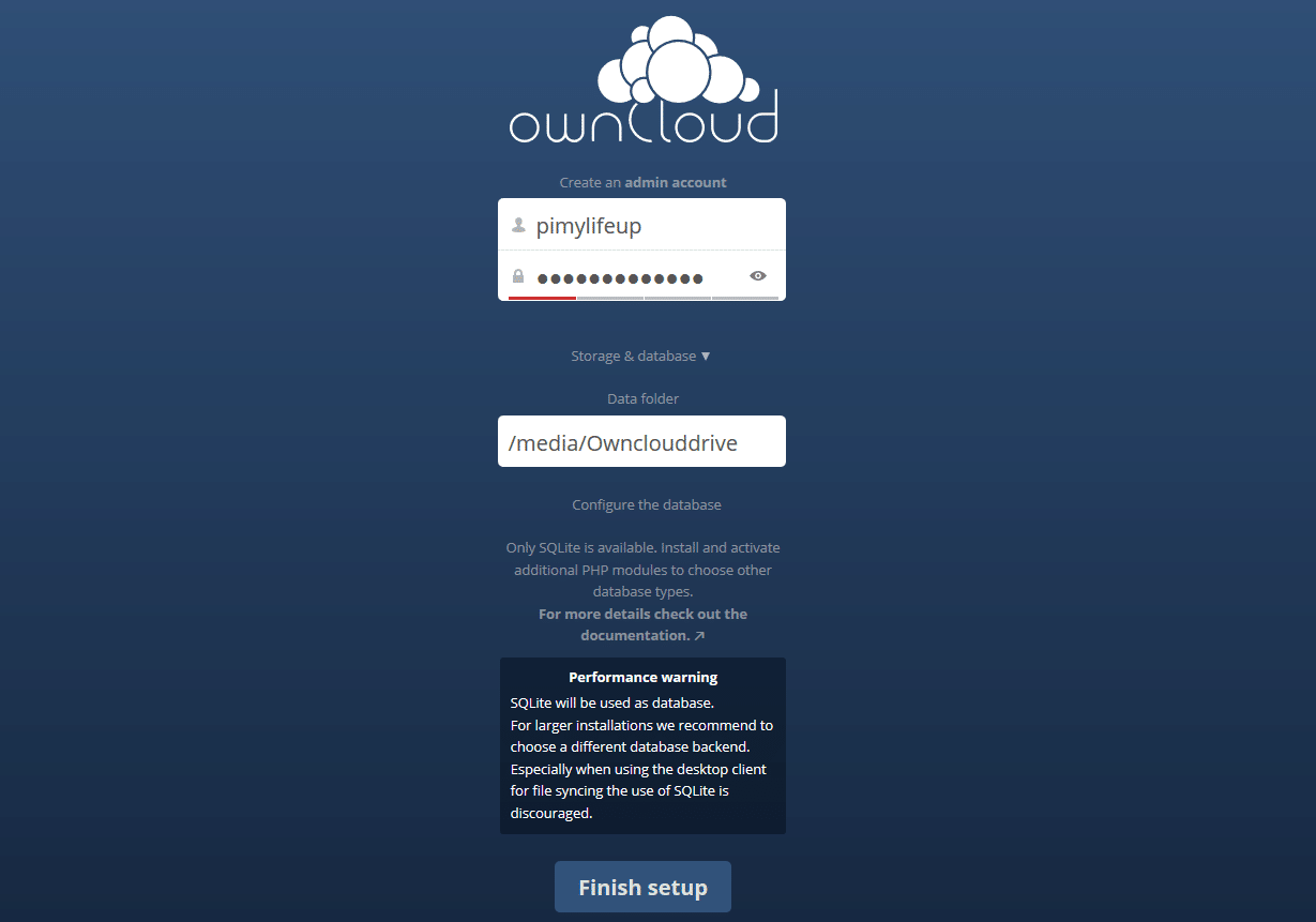 Owncloud Signup