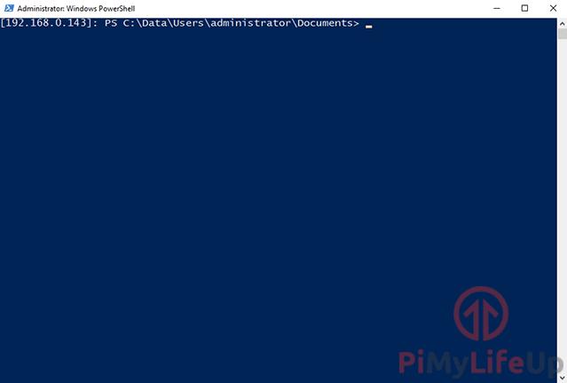 Raspberry Pi Windows 10 IoT Core Powershell connection