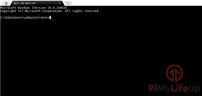 Raspberry Pi Windows 10 IoT SSH