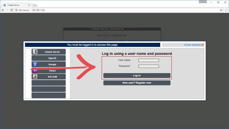 email Server Login