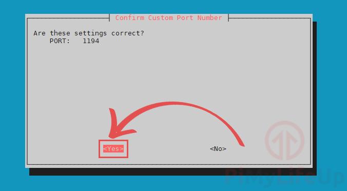 Confirm OpenVPN Port Settings