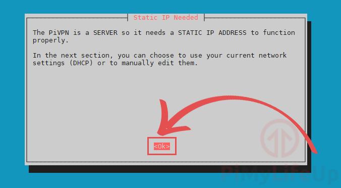 PiVPN Static IP Address Required