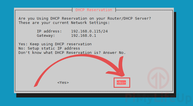 PiVPN Are you using DHCP Reservation