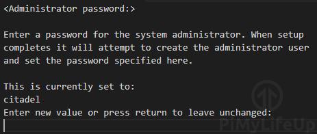 Set Citadel Admin User Password