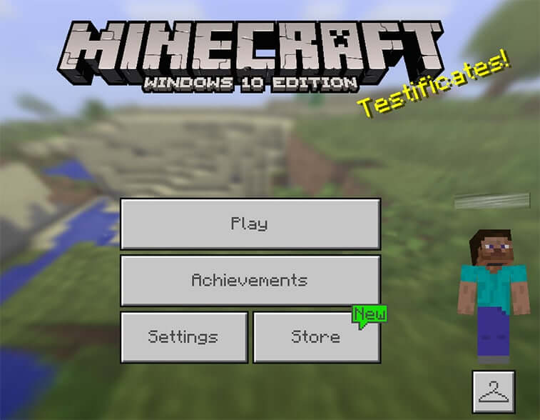 minecraft pocket edition main menu