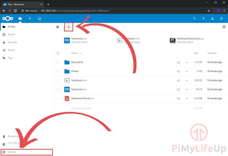 Nextcloud Files Screen