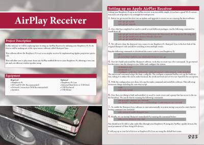 Pi My Life Up Raspberry Pi Book - Airplay Reciever