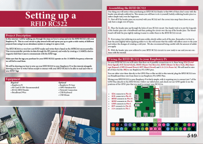 Pi My Life Up Raspberry Pi Book -RFID RC522 page