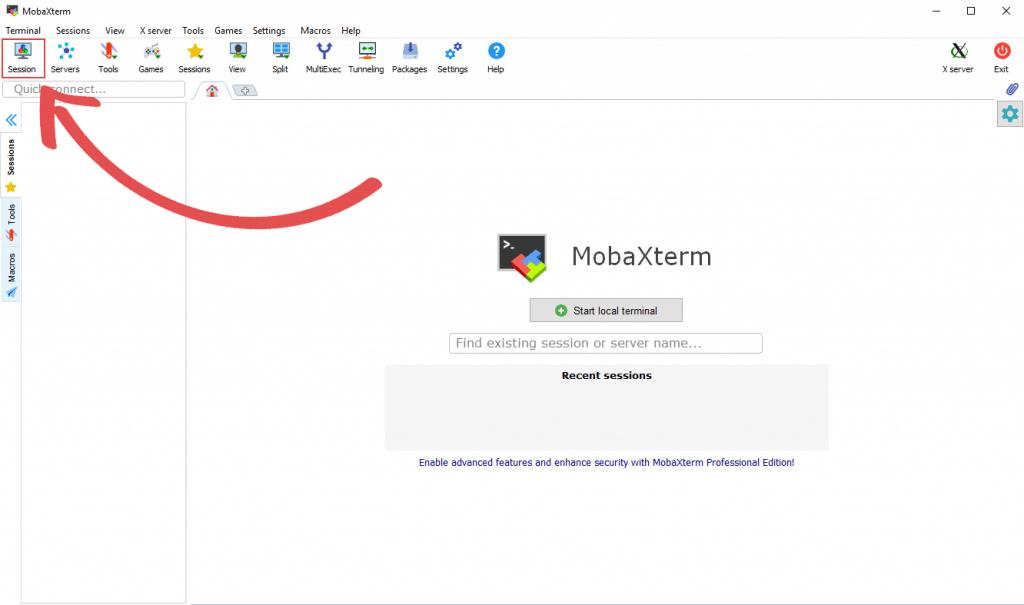 MobaXTerm Session