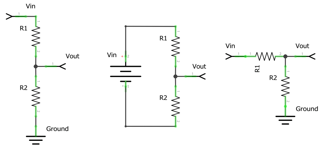 Basic Voltage Divider Circuit Examples