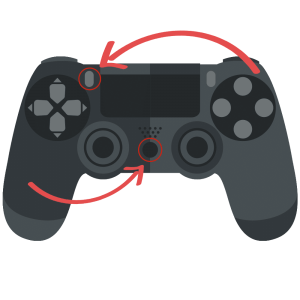 PS3 Controller Upper Right and Middle Button