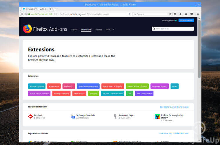 Firefox extensions