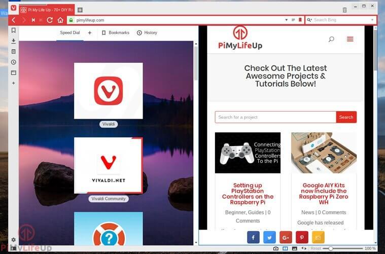vivaldi side by side browsing