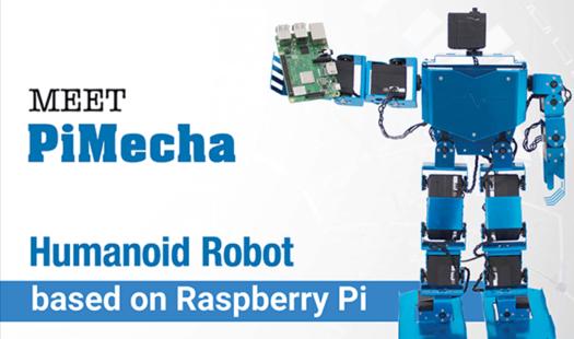 PiMecha – Raspberry Pi Humanoid Robot Kickstarter Thumbnail
