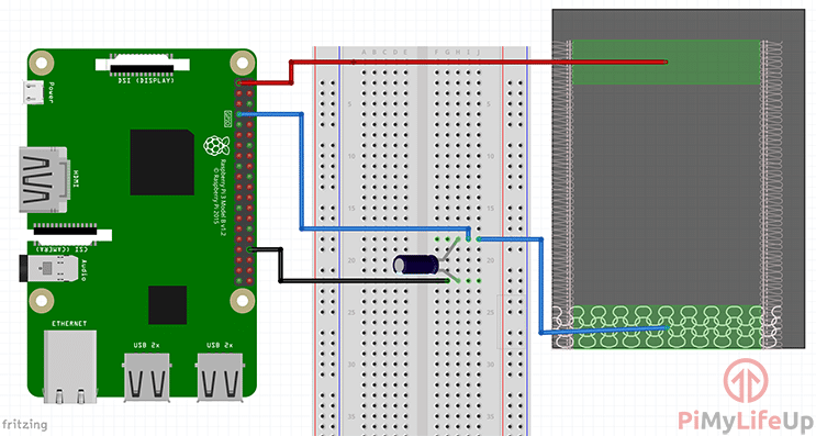 Raspberry Pi Pressure Pad Capacitor Diagram