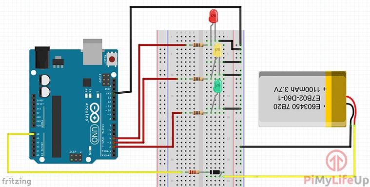 Arduino Battery Tester Circuit