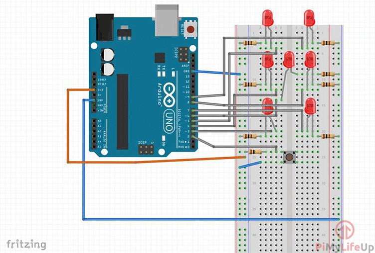 Arduino Dice Circuit