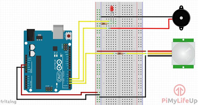 PIR Motion Sensor Circuit
