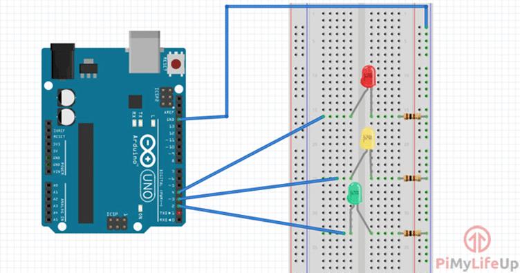 Arduino Traffic Light Circuit Diagram