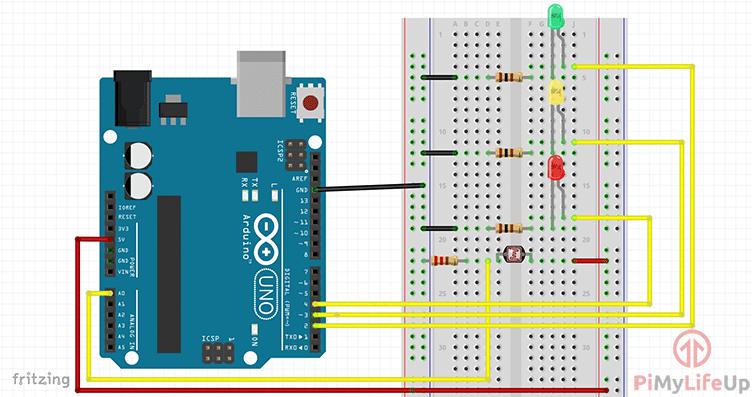 Arduino Light Sensor Circuit Diagram