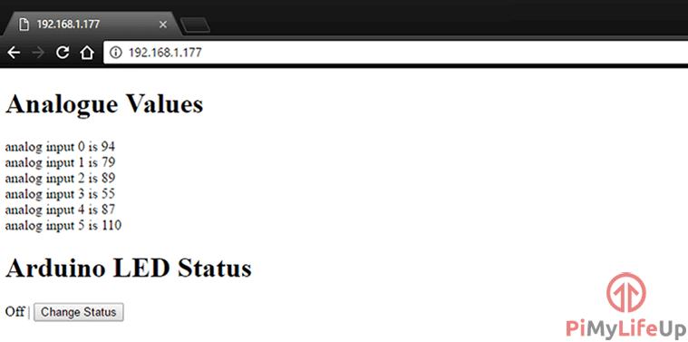 Arduino Web Page