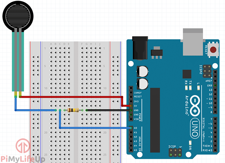Arduino Force Sensing Resistor Circuit
