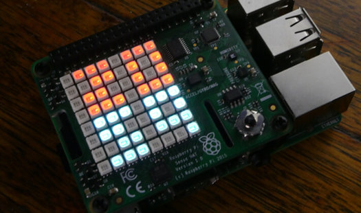 Raspberry Pi Sense HAT Digital Clock Thumbnail