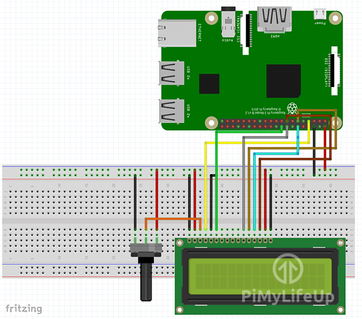 LCD Display Wiring Schematic