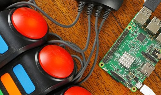 Raspberry Pi Quiz Game using the Buzz Controllers Thumbnail