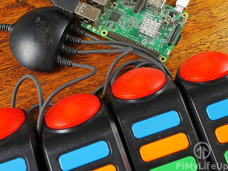 Raspberry Pi Buzz Controllers