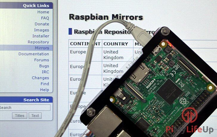How to change the Repository Mirror on Raspbian