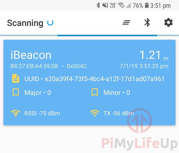 iBeacon Scanner Screenshot