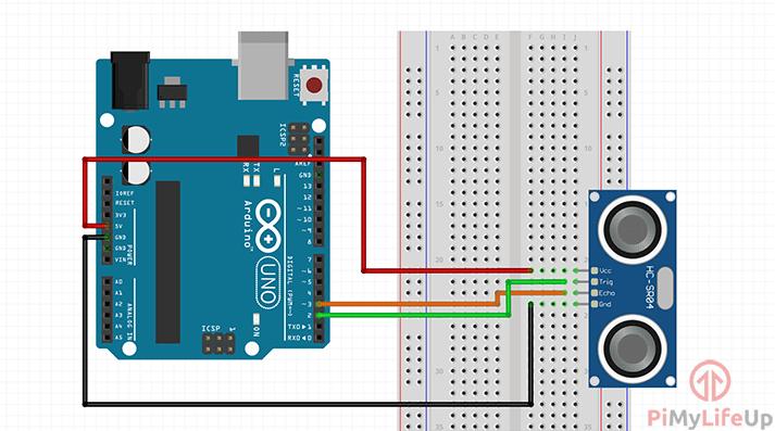 Arduino Distance Sensor Circuit