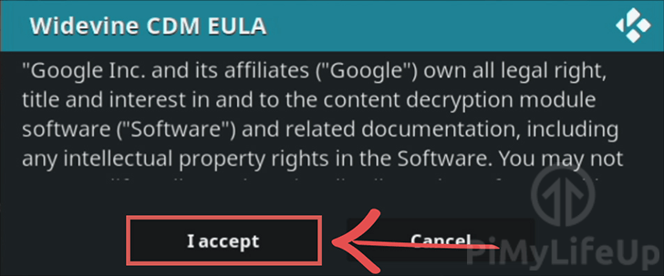Accept ChromeOS and Widevine EULA