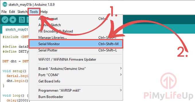 Arduino IDE Serial Monitor