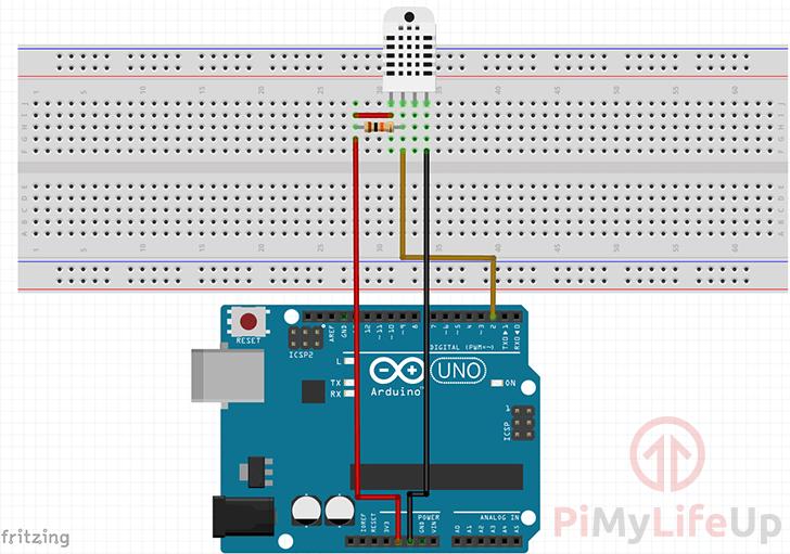 Arduino Uno DHT22 Wiring Diagram