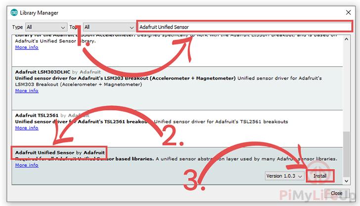 DHT Adafruit Unified Sensor Library