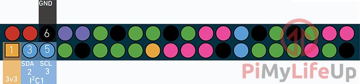 Raspberry Pi VEML6075 UV Sensor Wiring GPIO Pinout