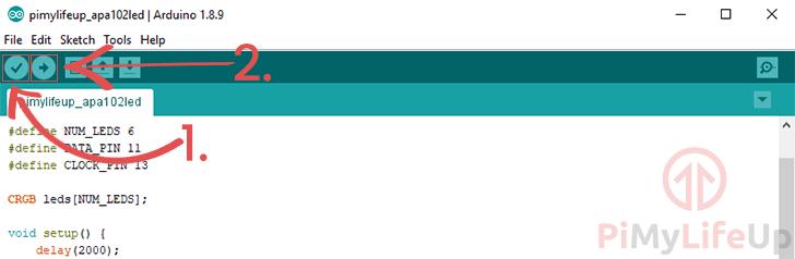 Arduino IDE Verify and Upload