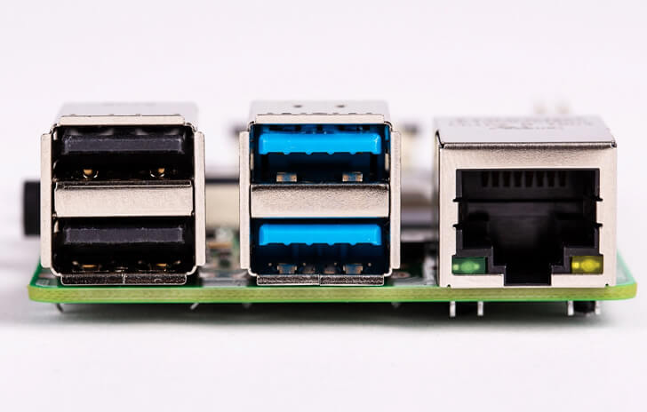 Raspberry Pi 4 USB 3.0 Ports