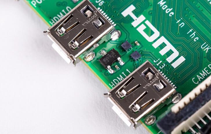 Raspberry Pi 4 Micro HDMI Ports