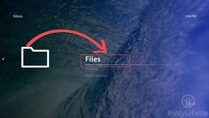 OSMC Add Files