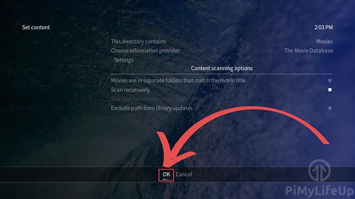 OSMC Save new content