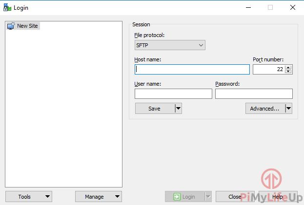 WinSCP Connect to Raspberry Pi RetroPi
